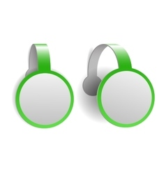 Green advertising wobblers vector image vector image