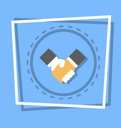 handshake icon business deal agreement concept vector image