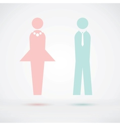 Man and woman cool silhouette vector