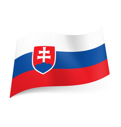 national flag of slovakia white blue and red vector image vector image