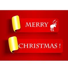 Peeling label-Merry Christmas vector image vector image