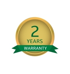 Two years warranty label vector image vector image