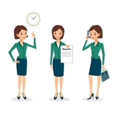 Business woman character set vector image vector image