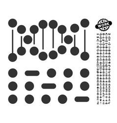 genetic code icon with men bonus vector image