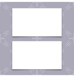 Mock-up business card modern minimal design vector