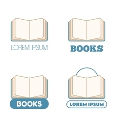 Set of open book icons vector image