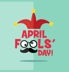 april fools day typography colorful flat design vector image vector image