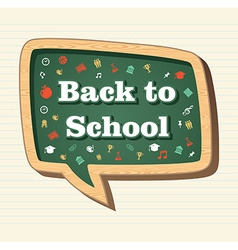 Education back to school icons in social media vector image vector image