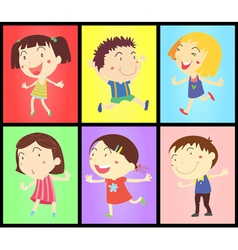 Kids on colours vector image vector image