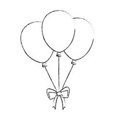 balloons air celebration icon vector image