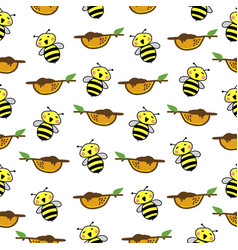 bee pattern seamless background vector image