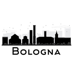 Bologna City skyline black and white silhouette vector image vector image