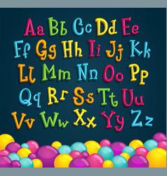 childrens alphabet vector image