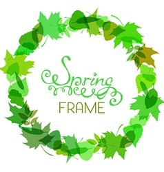 Round spring frame vector image