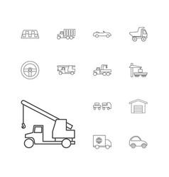 13 automobile icons vector