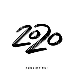 2020 happy new year background big vector