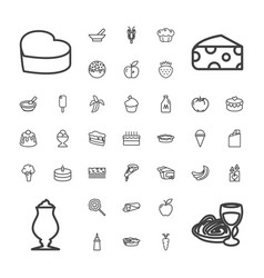 37 delicious icons vector