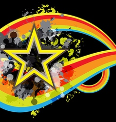 abstract star retro banner design vector image