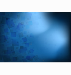 abstract transparent blue squares background vector image