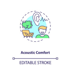 Acoustic comfort concept icon vector
