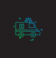 ambulance car emergency medical icon desige vector image