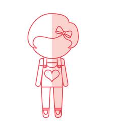 Avatar stylish cartoon girl vector