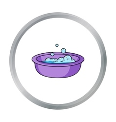 Baby bath icon in cartoon style isolated on white vector image