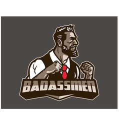 Bad ass men esport logo template vector