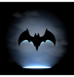 Bat sign vector image