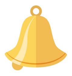 bell icon flat style vector image