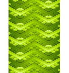 Bright green smooth stripes background vector