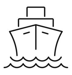 Cargo ship icon outline style vector