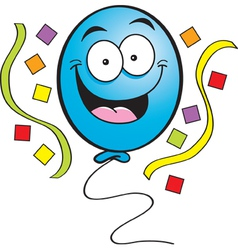 Cartoon Happy Balloon vector image