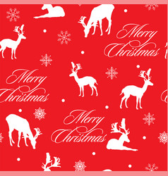 christmas seamless pattern 2 vector image