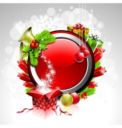 christmas theme vector image