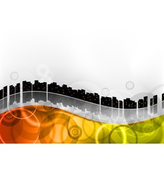 city abstract wave vector image