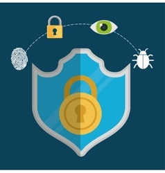 Colorful design of Security System vector