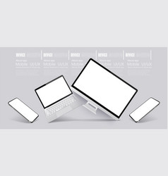 computer tablet and smartphone responsive vector image