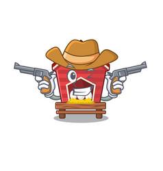 Cowboy chicken coop isolated in mascot vector