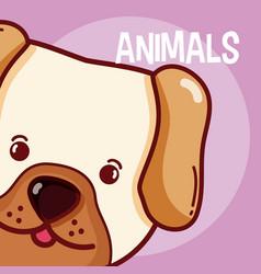 Dog animal cartoon vector