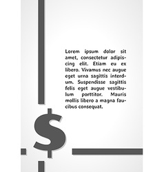 Dollar symbol dark infographics vector