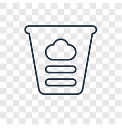 dough toy concept linear icon isolated on vector image