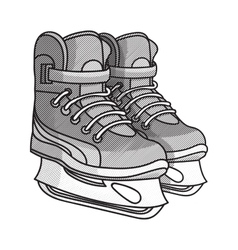 Etching ice skates vector