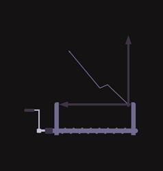 financial data graph chart trend lines columns vector image