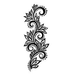 Floral design element effect lace eyelets vector