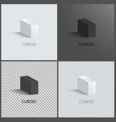 four cuboids layouts color vector image