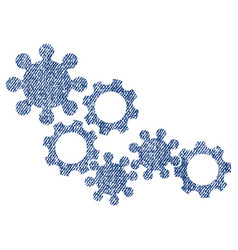 Gear mechanism fabric textured icon vector