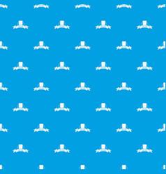 Gmo free food pattern seamless blue vector