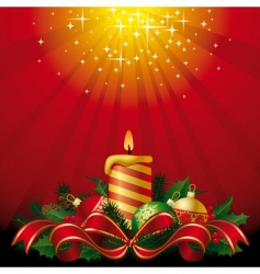 greeting card with a candle vector image vector image