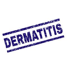 Grunge textured dermatitis stamp seal vector